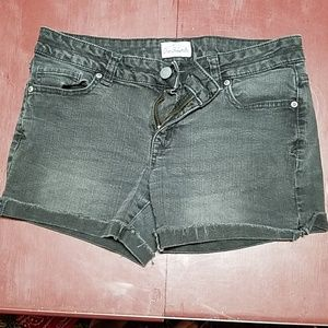 Faded Black Jean Shorts